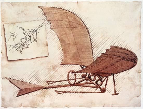 The History of Aviation: Leonardo Da Vinci Da-Vinci-glider