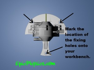 multi stage turbine mark the location of fixing holes